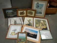 A mixed lot of good framed and glazed watercolours.