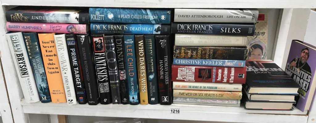 A good lot of hardback books including signed copies by Ian Rankin, Judith Durham,