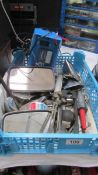 A good clean lot of 70's car spares & battery charger etc.