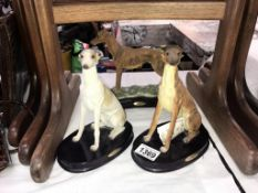 3 Greyhounds from the Juliana collection ****Condition report**** Height including