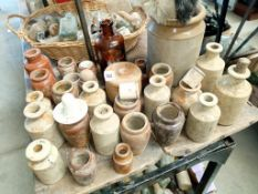 A large lot of glazed pottery & pipe cleaners