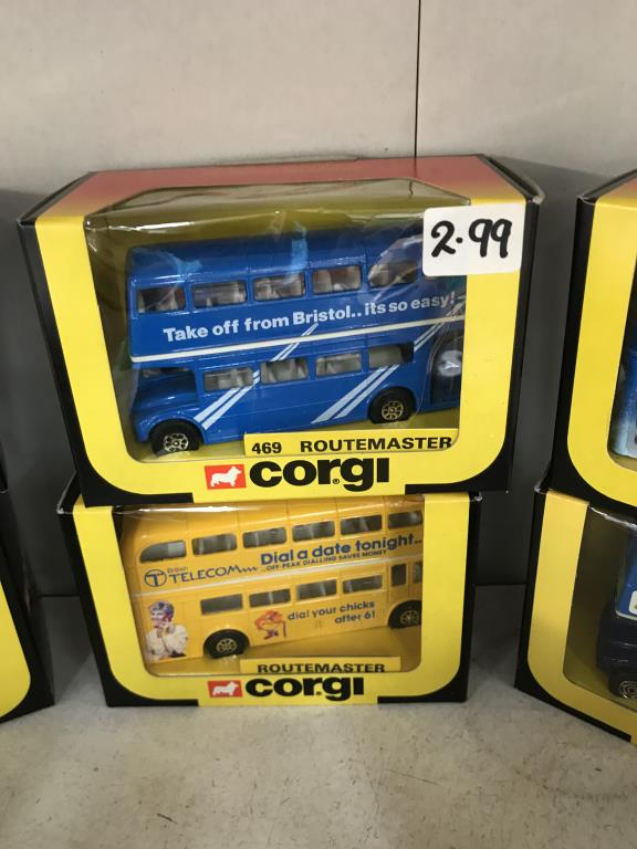 10 x 1980's Corgi Routemaster buses various model numbers & livery's - Image 3 of 8