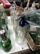 3 vintage soda syphons & 1 other (A/F)