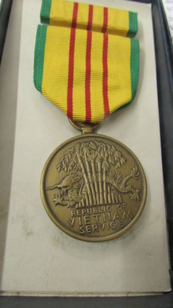 2 American Vietnam service medals together with a miniature service medal and a Zippo Vietnam - Image 3 of 7