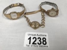 3 ladies wrist watches including Pulsar,