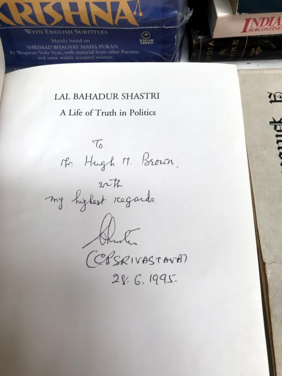 A good lot of India related books including signed copy of Lal Bahadur Shastri (signed by C.P. - Image 8 of 8
