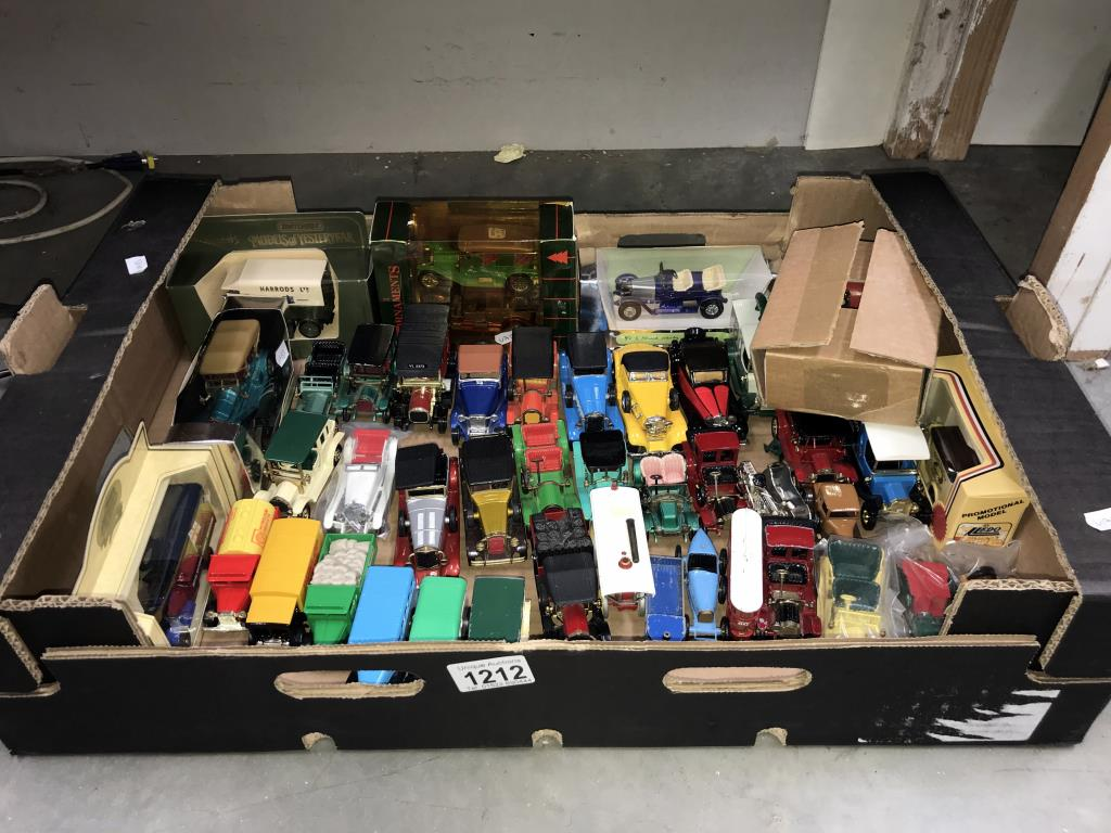 A good selection of unboxed 1960/70/80's Matchbox models of yesteryear including Lledo