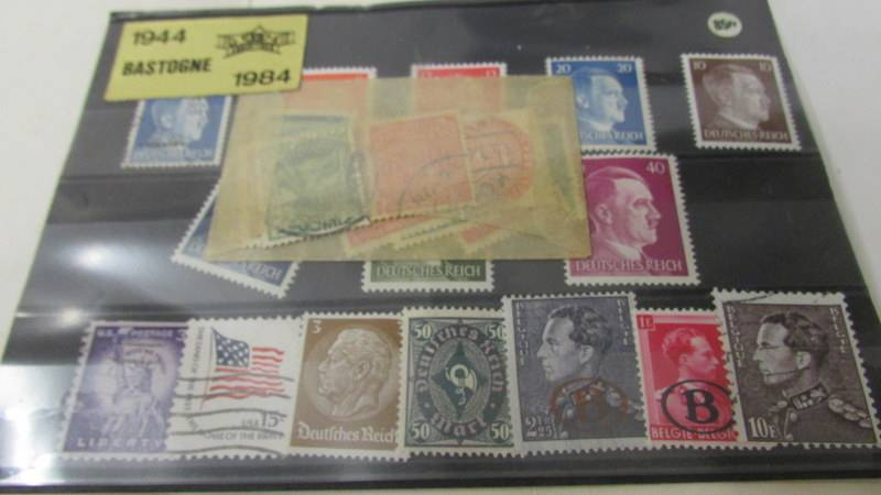 Two small albums of world stamps including India, China, Canada, UK etc. - Image 2 of 14