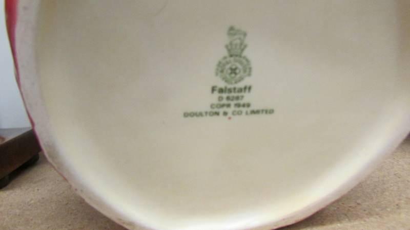 2 Royal Doulton character jugs - Old Salt D6551 and Falstaff D6287. - Image 5 of 5