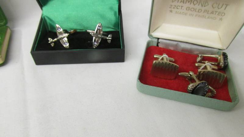 A mixed lot including cuff links, Parker pen, Lifeguard medal, vintage sun glasses etc. - Image 2 of 5