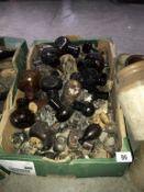 A box of Bovril jars