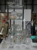 A mixed lot of glass ware including sets of dishes.
