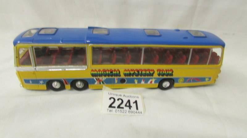 A Corgi Magical Mystery Tour Bedford bus.
