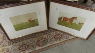 Vincent Haddelsey (1934-2010) Pair of pencil signed & numbered limited edition horse racing themed