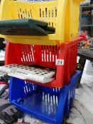 A quantity of plastic storage racks etc.
