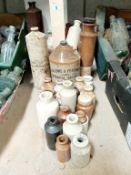 A large collection of pots,