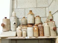 A large lot of stoneware jugs,