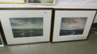 A pair of well framed and glazed rural scenes.