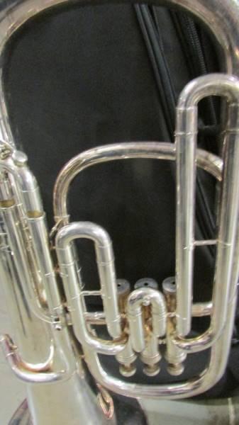 A silver plate euphonium (BVS Senora) in case. - Image 2 of 3