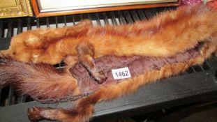 A vintage fur stole.