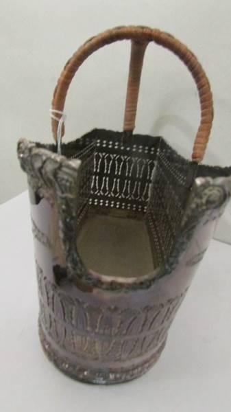 A heavy silver plate wine bottle holder by Barker Ellis. - Image 3 of 3