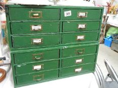 Two old six drawer chests.