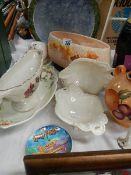A mixed lot of good clean ceramics including Arthur Wood.