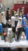 A mixed lot of mainly unopened miniture barrels & bottles etc.