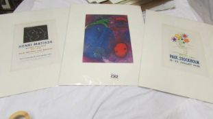 Collection of 3 lithographic prints Pablo Picasso (1881-1973) plate signed 'Paix Stockholm' 1958