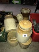 A large lot of stoneware jugs