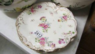 Five Royal Bonn, Germany floral decorated plates.