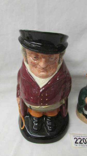 A Royal Doulton traditional Toby Jug The Huntsman and a smaller example Honest Measure. - Image 2 of 5