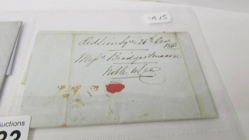 4 19th century letters - with stamps dated 1877/1879 and 2 without stamps dated 1843 and 1847. - Image 2 of 7