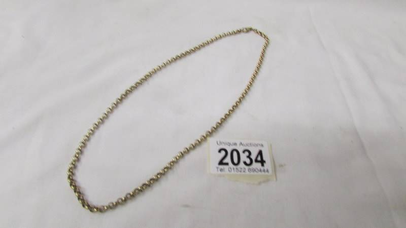 A 9ct gold neck chain, 15.8 grams.