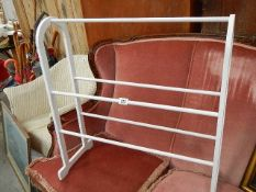 A painted towel rail.