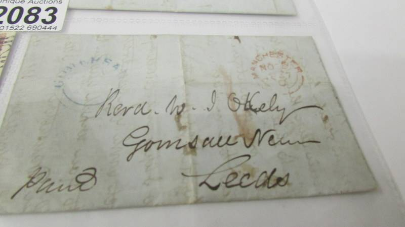4 19th century letters - with stamps dated 1877/1879 and 2 without stamps dated 1843 and 1847. - Image 7 of 7