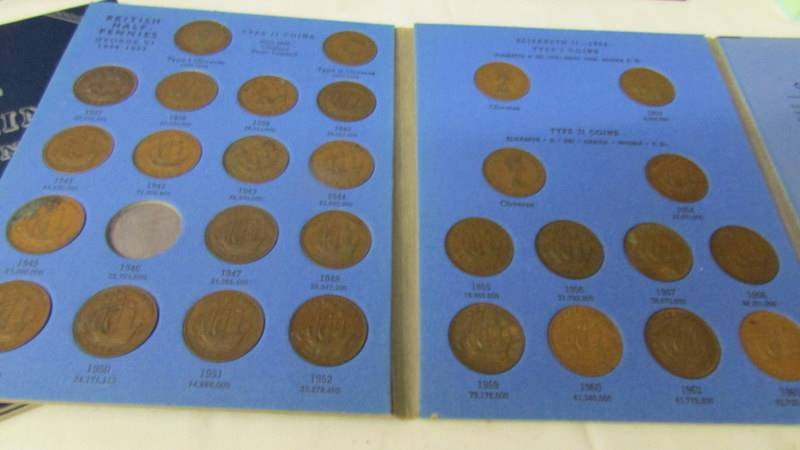 5 various Whitman folders of English coins, part filled. - Image 2 of 6