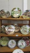 Nine Bradex farming related collector's plates, 2 Chinese dishes and 2 Japanese 'Geisha' plates.