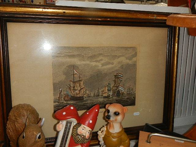 A pair of nautical prints of English and Dutch fishing fleets. - Image 4 of 4