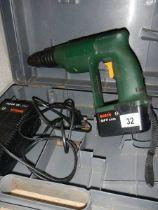 A cased Bosch drill.
