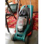 A Bosch lawn mower in good order.