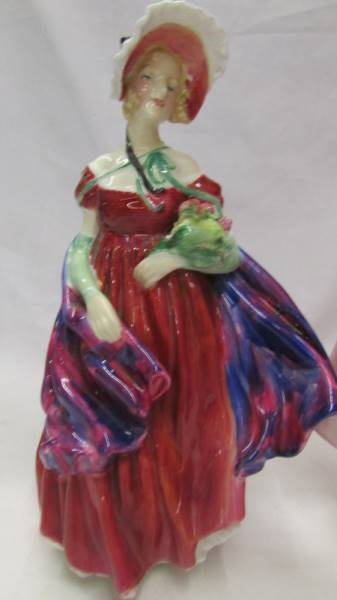Two Royal Doulton figures - Sweet Anne HN1496 and Lady April (a/f) HN1958. - Image 2 of 6