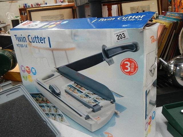 A twin cutter still boxed.