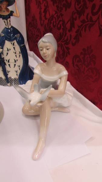 Three Lladro figures including girl at piano, - Image 4 of 6