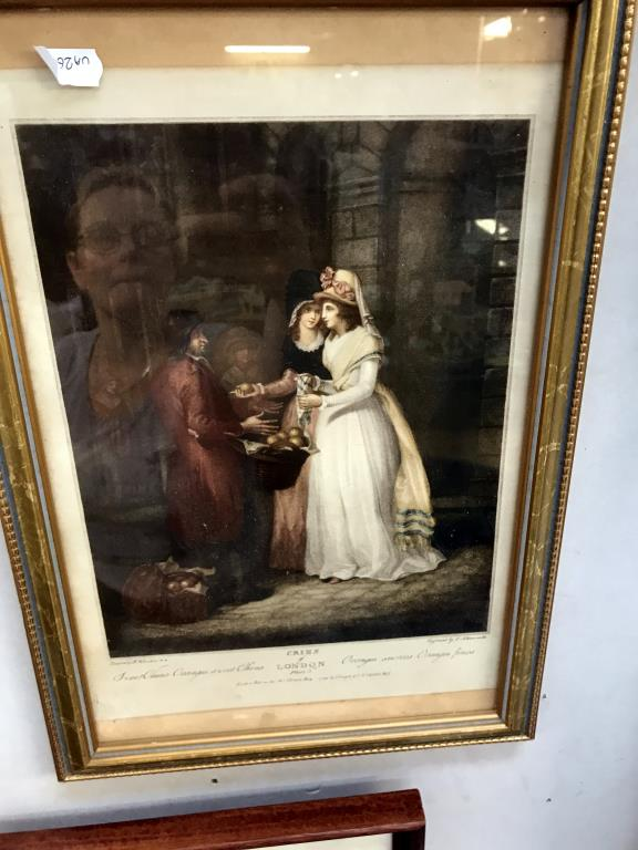 3 framed engravings including cries of London and 1 print - Image 4 of 5