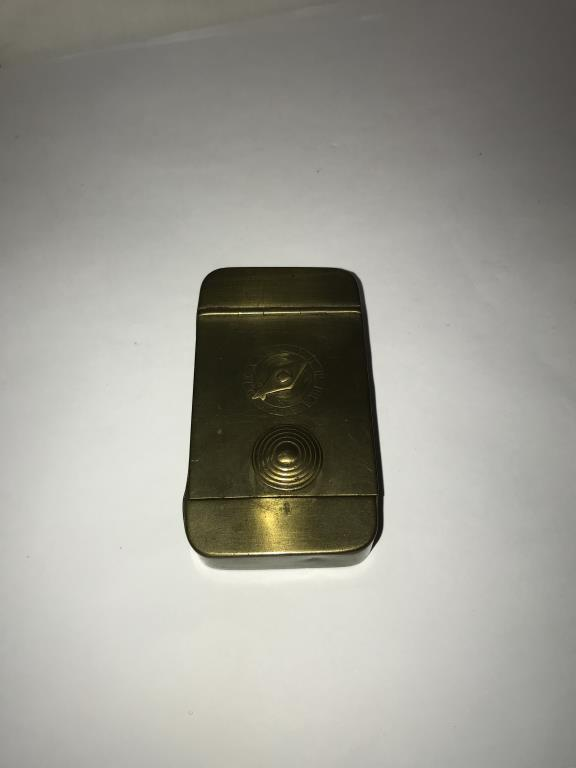 A 19th century brass snuff box with combination lock. - Image 2 of 5