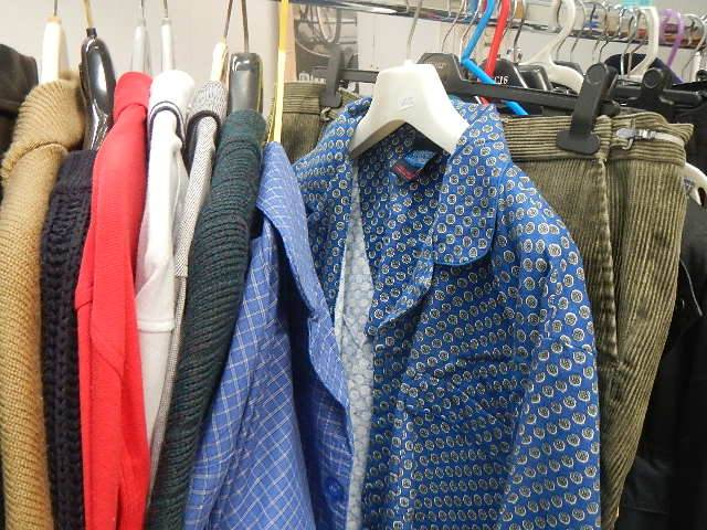 A full rail of vintage and other clothing. - Image 7 of 12