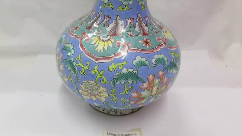 A Peking enamel vase, 19th century in late Ming style. - Image 2 of 4