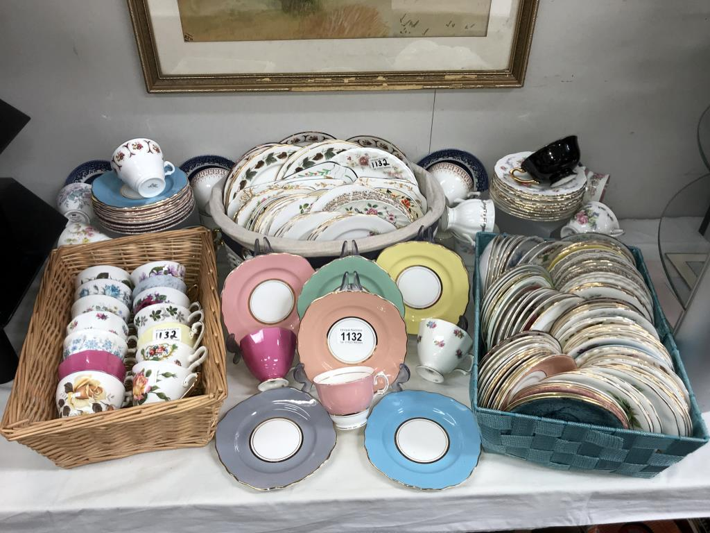 In excess of 170 pieces of crockery, plates, saucers and cups,