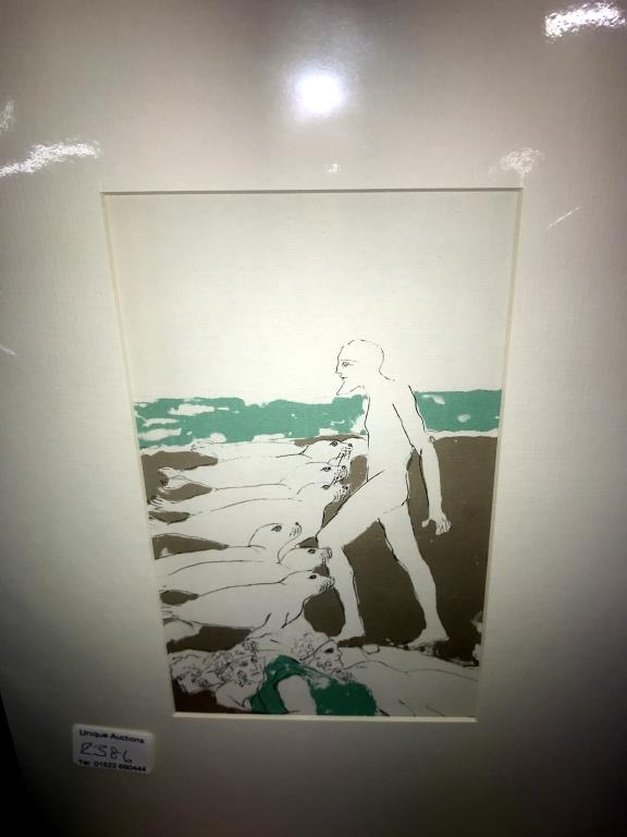 Elisabeth Frink (1930-1993) collection of 6 x lithographic prints on chain laid paper circa 1975. - Image 6 of 7